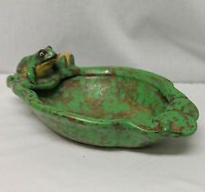 Antique Weller Pottery Bowl Coppertone Frog Design