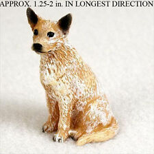 Australian Cattle Mini Resin Hand Painted Dog Figurine Red