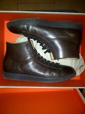 SANTONI HIGH TOP SNEAKER IN LEATHER BROWN - 100% MADE IN ITALY WITH BOX! 335 EUR