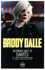 BRODY DALLE 2014 Gig POSTER Portland Oregon THE DISTILLERS Concert