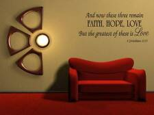 Removable Decal Art Mural Home Room Decor Wall Sticker Quote Faith Hope Love New