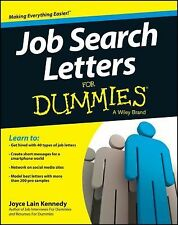 Job Search Letters For Dummies, Kennedy, Joyce Lain, Good Book