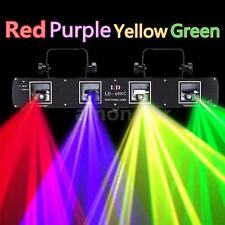 4 lens 4 Beam 420mW Stage Laser Light RGPY DMX 7CH DJ Disco Club Party Lighting