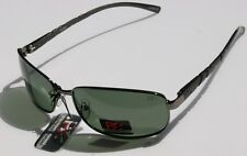 PZ Rectangle Polarized Sunglasses Aluminum Green TINT - lightweight