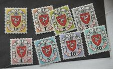 ISLE OF MAN  1973A POSTAGE DUES JIA - 8A  1P  TO 10P  SECOND SERIES MNH
