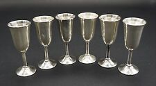 SET OF SIX ROGERS STERLING SILVER GOBLETS CORDIALS, MARKED