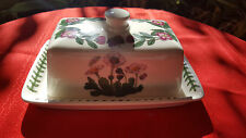 Portmeirion China The Botanic Garden Covered Butter Dish (2pcs) Made in England