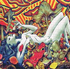 SHROOM LADY Perforated Blotter Art 30 x 30 = 900 hits LSD Acid New/Mint