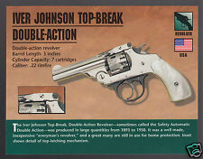 IVER JOHNSON TOP-BREAK DOUBLE-ACTION .22 REVOLVER Gun Classic Firearm PHOTO CARD