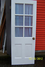 EXTERIOR DOOR 6 PANES OF GLASS  2 VERTICAL PANELS APPROX 30""