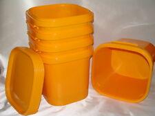 5x Kunststoffeimer groß  orange  38,1l  40x40x37cm