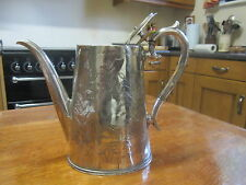 Old Antique Victorian Sheffield made Silver Plated Teapot Teekanne c1880