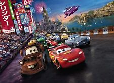 CARS RACE Photo Wallpaper Wall Mural for KIDS DISNEY PIXAR CARS2  254x184cm