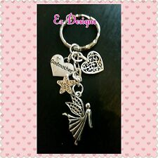 FAIRY Godmother THANK you Keyring HANDMADE  Christening Gift ♡FREEPOST&BAG £2.99