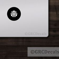 Iron Man Arc Reactor -- Mac Apple Logo Laptop Vinyl Decal Sticker Macbook Decal