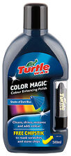Turtle Wax Colour Magic Car Polish Wax Restorer 500ml + Chipstick Pen DARK BLUE