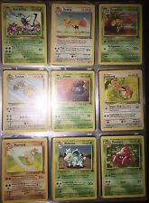 Pokemon Cards JUNGLE COMPLETE SET COMMONS & UNCOMMONS (VG)