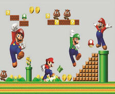 Super Mario Brother Wall Sticker Mural Art Removable Vinyl Decal Kids Room Decor