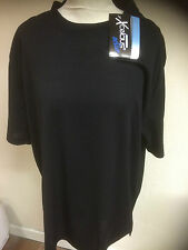 Xcelcius Short Sleeve T-Shirt Active Coolmax Sport Skins Base Layer Black 2XL