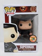 Funko Pop! Heroes #32 Man of Steel Superman Black Suit SDCC13 Exclusive -RETIRED