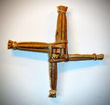 "St Brigid's Cross 6"" Mounted on Scenic Card All Handcrafted FREE gift tag."