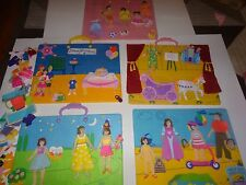Felt Tales Felt Dolls Ballet Happy Birthday Vacation 5 Boards and over 75 Pieces
