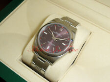 Rolex Oyster Perpetual 39mm Womans Watch Red Grape Oyster Smooth Bezel 114300