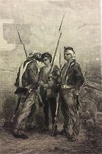 Révolution 1848 Adolphe Pierre Leleux 1812-1891  L'Artiste Louis-Philippe  1850