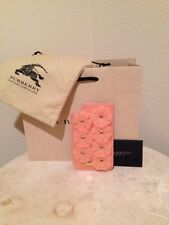 NWT BURBERRY PRORSUM $365 PALE PINK LEATHER RUBBER SLEEVE CASE  IPHONE 5/5S
