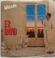 "F.R. David - Words - Carerre Records Picture Sleeve 7""  Single CAR 248 EX/VG"