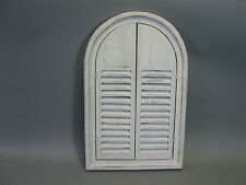Wall mirror made from wood with Shutters old white 58cm x 38cm