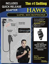 New Hawk Lapel Mic & Quick Release for Harris Unity XG15 XG25 XG75 P5300 P7300