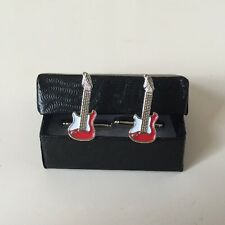 Guitar Cufflinks - Electric Gift Wedding Present Music Rock Best Man