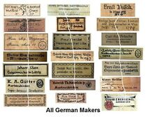 V116 Old Vintage Antique Violin Fiddle Maker Set of 20 Labels NICE!