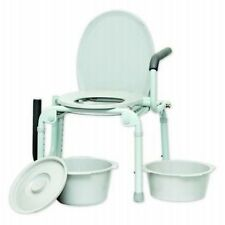INVACARE DELUXE DROP ARM BEDSIDE COMMODE