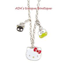 Hello Kitty Necklace 40th Anniversary Pendant Charms Keroppi Chococat Sanrio NWT