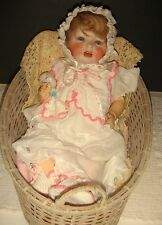 """Early 1900's Lewis & Wolfe Co. Bisque Baby Doll-17""""-Germany"""
