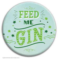 Brainbox Candy 'Feed Me Gin' badge funny novelty joke cheap gift hen stag do