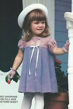 Crochet Pattern ~ LITTLE GIRLS DRESS & MATCHING GLOVES ~ Instructions