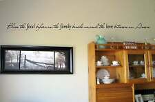 Bless the food before us the family Vinyl Wall Decal Stickers Decor Letters
