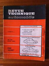 d)RTA du 12/1968; Ford Escort/ Fiat 850 / Neckar Adria
