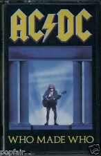 "AC/DC - WHO MADE WHO 1986 UK CASSETTE ATLANTIC - WX 57C OST ""MAXIMUM OVERDRIVE"""