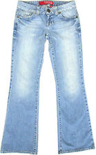 GUESS Daredevil Flare Stretch Jeans Ultra Low Rise Light Wash Womens Sz 28