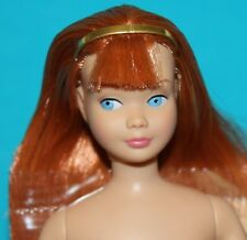 Vintage Barbie Reproduction SKIPPER NUDE Titian Red Straight Leg w/ GOLD BAND