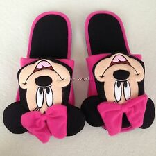Disney Mickey Minnie Mouse Plush Slippers Shoes US size 6-10, UK 4-8