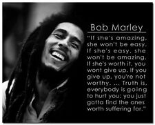 Motivational Quotes Art Silk Poster 24x30 inches Bob Marley