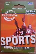 Buzztime Sports Trivia Card Game Series 3 Over 200 Questions Ages 10 & Up 2007