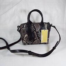 Michael Kors Steel Grey Python Embossed Leather Campbell XS Satchel - NWT