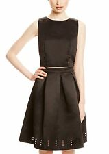 C. LUCE Black Solid Scoop Neck Laser Cut Crop Top $98 Retail Size M NEW