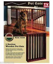 Pet Gate Folding Wood Dog Fence Barrier Standing New Safety Panel Indoor Walk